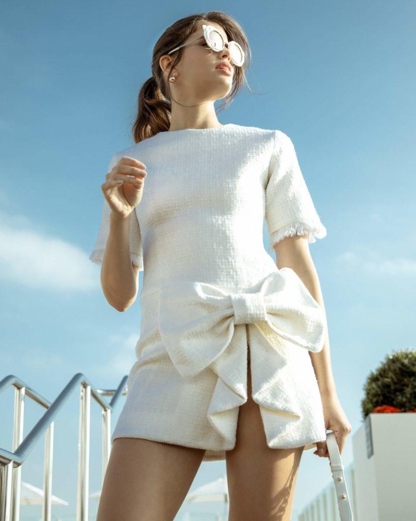 White Big Bow Dress by Annalisa Peretti